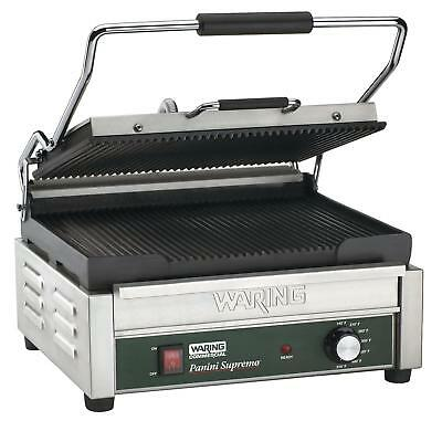 """Waring (WPG250B) 16"""" Grooved Panini Grill - Supremo Series"""