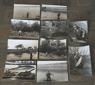 10 REAL PHOTOS ANGLING FLY FISHING UK RIVER AVON WERWOOD RESERVOIR 1970s? #3