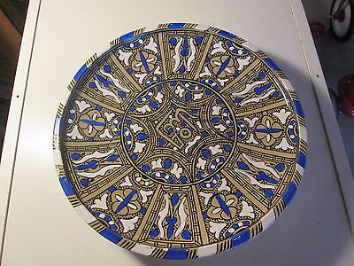Vintage Antique Arabic Serving Plate Signed Persian Islamic Pottery