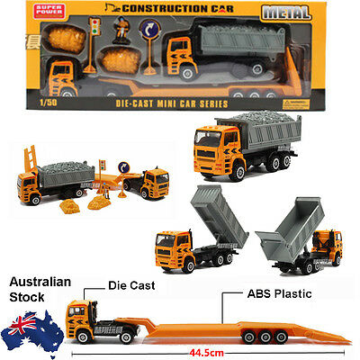 1:50 Construction Toy Truck Equipment Diecast Model Toys Pull Back & GO Action