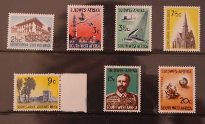 South West Africa SWA Namibia 1966-1972 Part Set Definatives Chalk Paper MNH