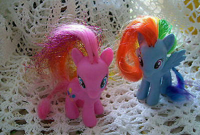 Vintage My Little Pony Rainbow Dash and Twilight Sparkle 3 inch set of two