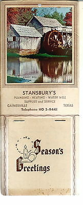 NL-044 - Stansbury's 1958 Calendar, Gainesville, TX with Full Pad Vintage
