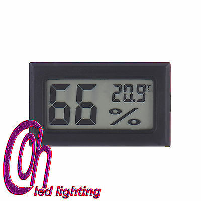 Black Mini Digital LCD Thermometer Hygrometer Humidity Temperature Meter Indoor