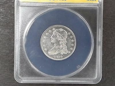1834 25c Capped Bust Quarter - ANACS EF 40 Details - Scratched-Cleaned