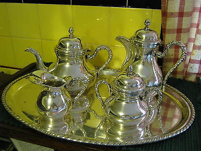 Italy 230 VI Arg VICENTINA & 58 PD Z BRUNO 800 Silver 5 pc TEA SET, SAN MARCO