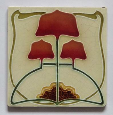 Antique Art Nouveau Tile by Mintons China Works, c1904/6