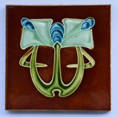 Antique Art Nouveau Tile, c1905