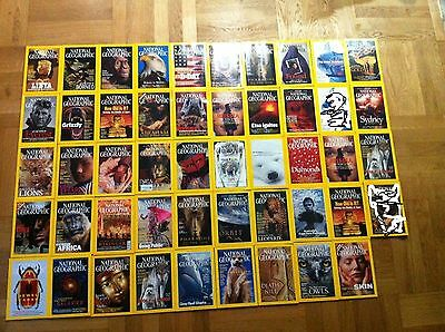 47 National Geographic (in Englisch / english) Jahrgang 2000-2003 neuw. !!