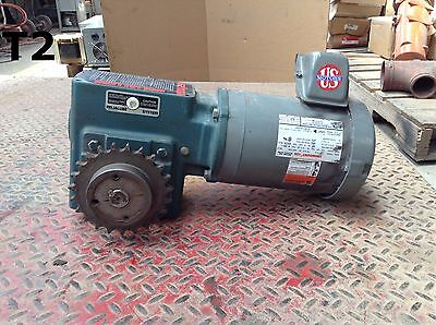 Dodge Tigear MR94651- C XX Gear Drive/Speed Reducer 1HP 1750RPM 40:1 3PH