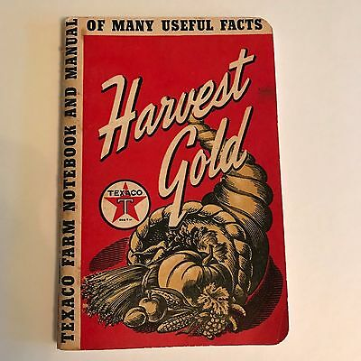 Old Texaco Oil Farm Notebook Manual 1941 ~ Wagner Hardware Implement New Ulm MN