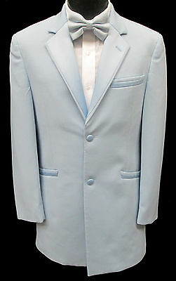 Light Carolina Sky Blue Tuxedo Jacket Retro Prom Halloween Cosplay Disco Vintage