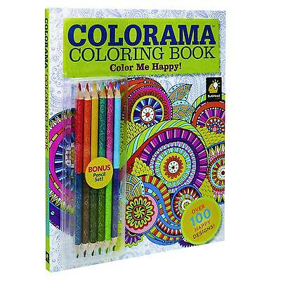 colorama color me happy coloring book wth pencil set 5 49 picclick