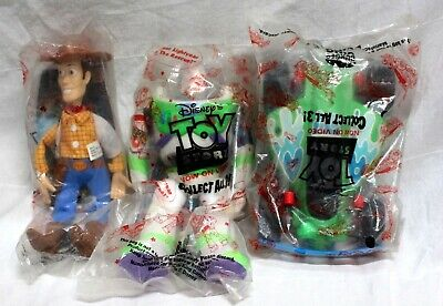 Disney's Original Toy Story Burger King All 3 Collectible Figures Complete