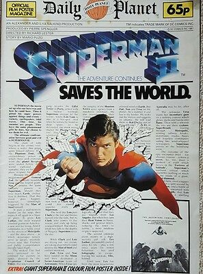 Superman 2 Official Film Poster Magazine