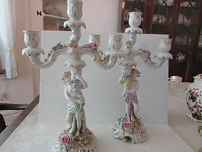 Pair of Von Schierholz Candleabra-Use As a Single Or Three Arm--Mint