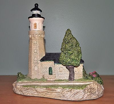 Harbour Lights Lighthouse Fort Niagara New York 1991 #113~Artist Signed