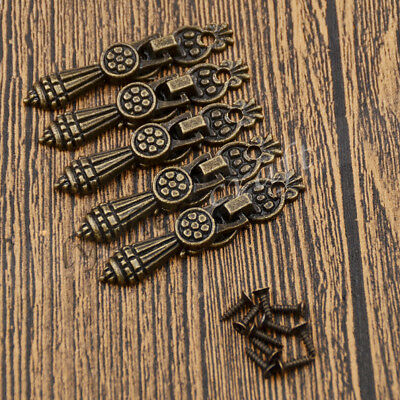 5 Pcs Vintage Pull Handle Knobs for Cabinet Door Jewelry Case Box Drawer Closet