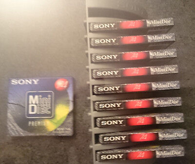 Sony MD Tower mit 10 Sony Minidiscs, Neu