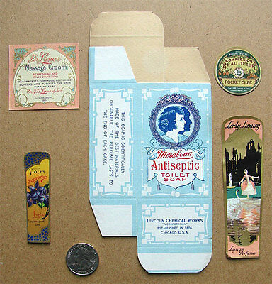 Mixed Lot of Vintage Beauty Product Package and Labels • $3.00