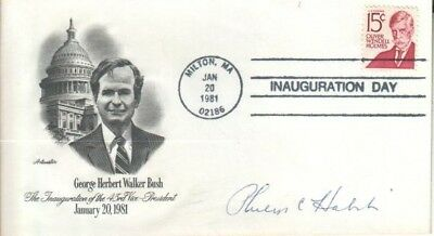 Philip C. Habib Autographed G.W Bush First Day Cover Career Diplomat D.92