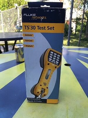 Fluke Networks TS30 Telephone Test Set with Angled Bed of Nail Clips