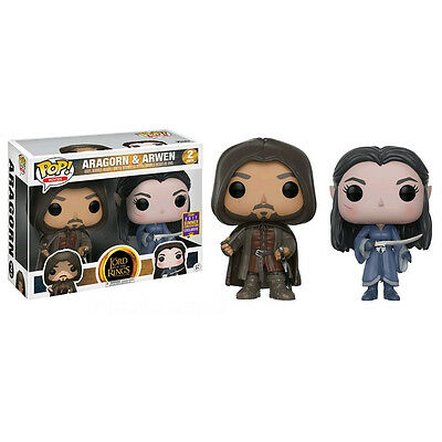 Lord of the Rings Aragorn & Arwen SDCC 2017 EXCLUSIVE Pop Vinyl Figure *NEW*RARE