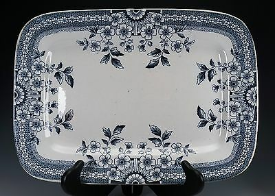 "Aesthetic Blue White Transferware Staffordshire A & F Co, FOLEY 14"" Platter - C"