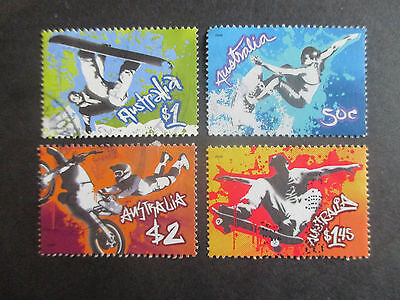 no--4----2006  EXTREME  SPORTS   STAMP  ISSUES   F/S  --4 STAMPS---    USED A1