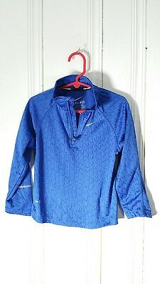 Nike Running Youth Athletic Shirt 1/2 Zip Blue Size 4T Long Sleeve