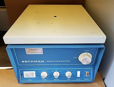 Beckman TJ-6 Centrifuge with Rotor and Buckets