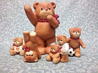 Lot of 6 Lucy & me Enesco bear figurines -  bank  father & son sailors .....
