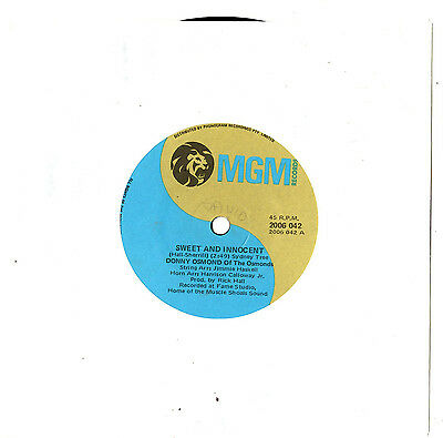 "Donny & Marie Osmond - Sweet And Innocent / Flirtin' - 7""45 Vinyl Record"