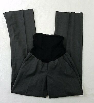 Theory A Pea In the Pod Collection Maternity Dress Pants Slacks Gray Career Sz 6