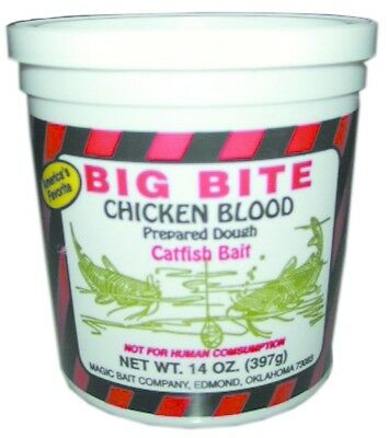 Magic 11-12 Big Bite Chicken Blood 14oz Jar Fishing Lure