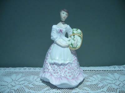 Vintage Royal Worcester England 'spring Fair' Hand Painted Figurine - Vgc