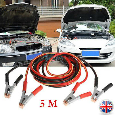 2000Ampbattery Jump Leads 5 Metre Long Booster Cables Car Van Truck  Heavy Duty
