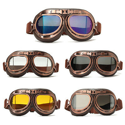 Motorbike Flying Scooter Pilot Aviator Helmet Glasses Retro Motorcycle Goggles