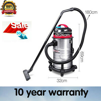 New Industrial Commercial Bagless Dry Wet Vacuum Cleaners 30 L Water Filter Au
