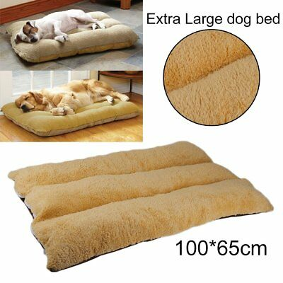 100x65cm Extra Large Warm Soft Fleece Puppy Pets Dog Cat Bed Cushion Pillow