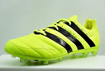 newest 9d2b4 b6e8e ADIDAS ACE 16.2 Fg Leather Men's Football Boots Brand New Size Uk 8 (Cn3)