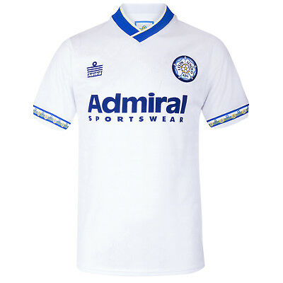 Leeds United AFC Official Football Gift Mens Admiral 1993 Retro Home Kit Shirt