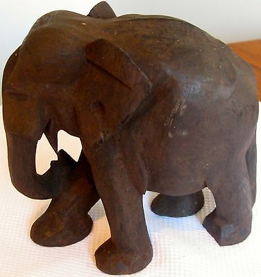 Collectable Retro Wooden  Elephant Figural Ornament  (342)