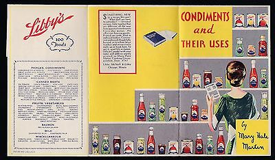 Post-1950 CONDIMENTS and Their USES flyer from LIBBY'S Foods