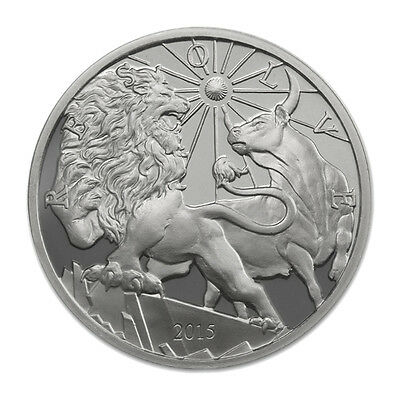 Modern Ancients LION & BULL 1 oz .999 Silver Round