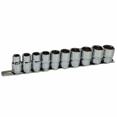 """1/2"""" Drive Imperial SAE AF Shallow Sockets 7/16"""" - 1"""" 10pc 6 Sided Bergen"""