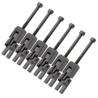 6Pcs Floyd Rose Locked String Saddles Electric Guitar Tremolo Bridge Black