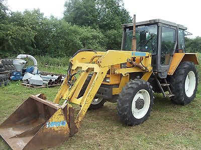***renault 68.14 4Wd Tractor + Grays Lynk-On 25 Loader + Bucket***