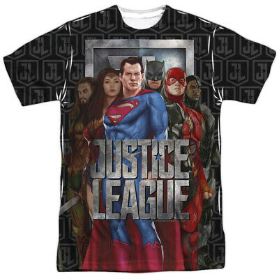 Justice League Movie The League DC Comics Sublimation Licensed Adult T Shirt