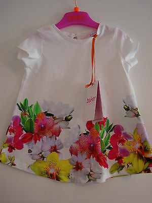 Ted Baker Baby Girls Floral Print T shirt Top  12 - 18 Months BNWT
